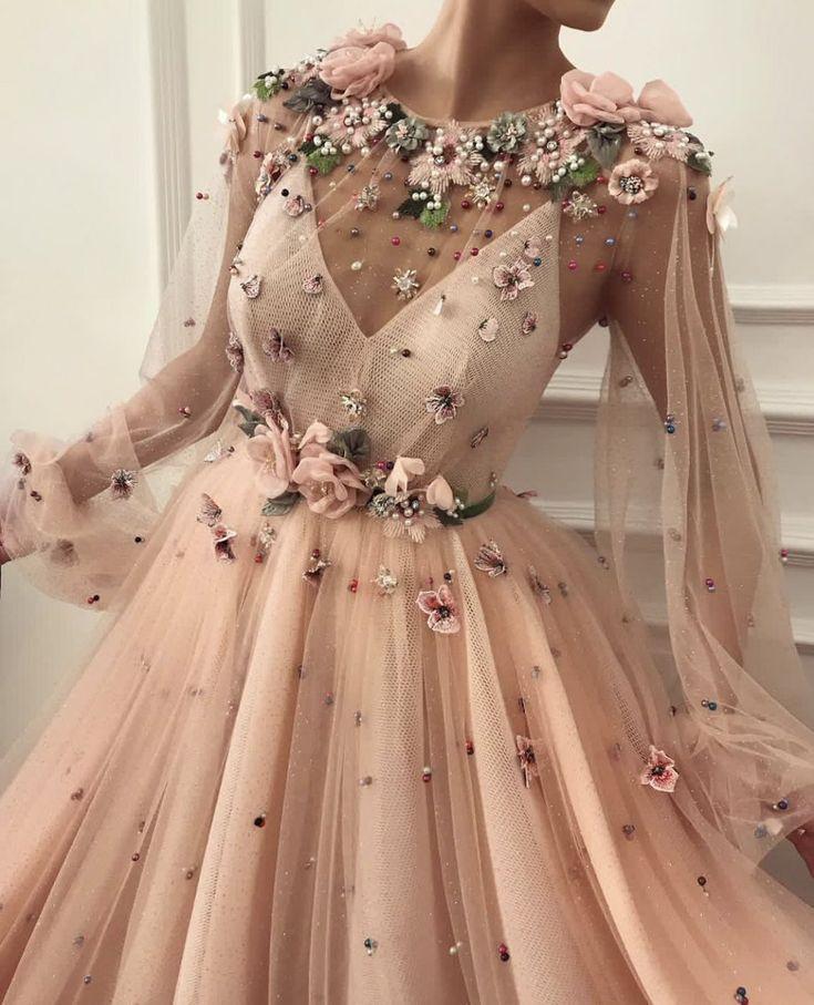 floral wedding dress | Kleider, Schöne kleider und Kleidung