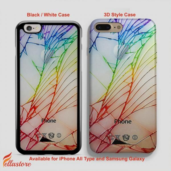 Broken Rupture Damage Cracked Out White IPhone 7 Plus Case 6 6S 5 5S SE Samsung Galaxy S8 S7 S6 Cases And Other