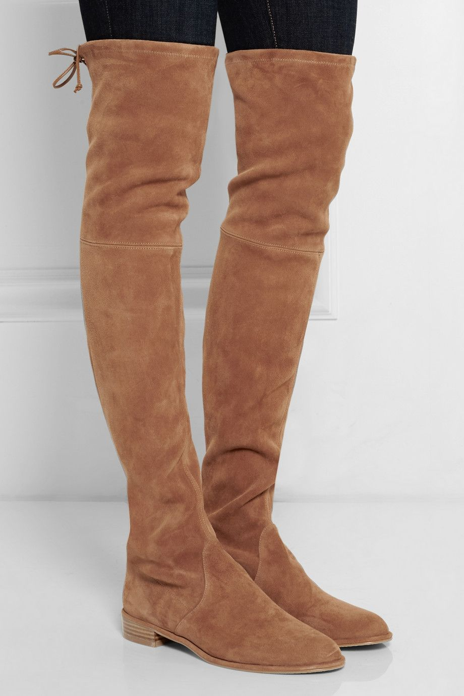 Stuart Weitzman | Lowland stretch-suede over-the-knee boots | NET-