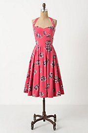 Spring Trend: florals. Akebono halter dress, Antrhopologie