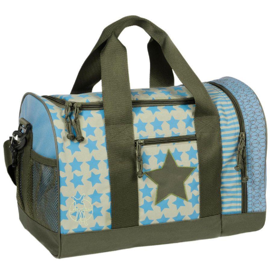 LÄSSIG 4 Kids Mini Sportsbag Starlight Oliv #Sporttasche #Sportsbag #Kindersporttasche #Kinderreisetasche #StarsandSTripes #Sterne #Streifen #Oliv #Blau