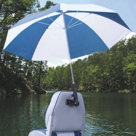 Real shade boat seat umbrella with bracket overton 39 s for Boat umbrellas fishing