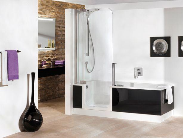douche en bad in 1. dit is misschien wel handig voor mijn kleine, Badkamer