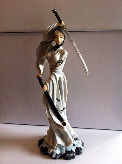 fantasy o ren last stand samurai figurine sculptures warrior women