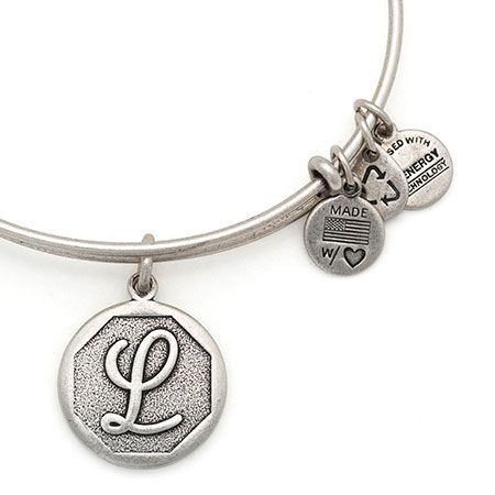 Alex And Ani Initial Ii Expandable Wire Bangle L Russian Silver