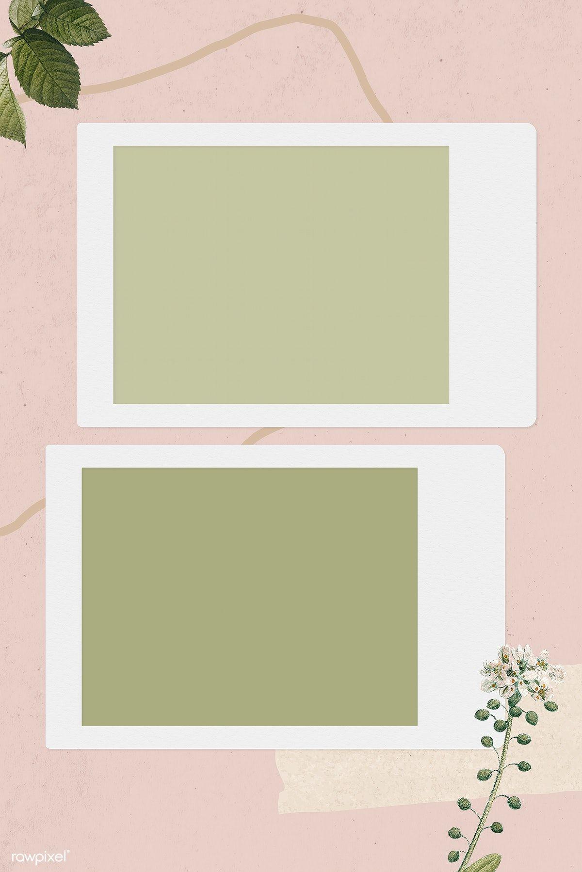 Download Premium Illustration Of Blank Collage Photo Frame Template On Latar Belakang Kolase Foto Kertas Dinding