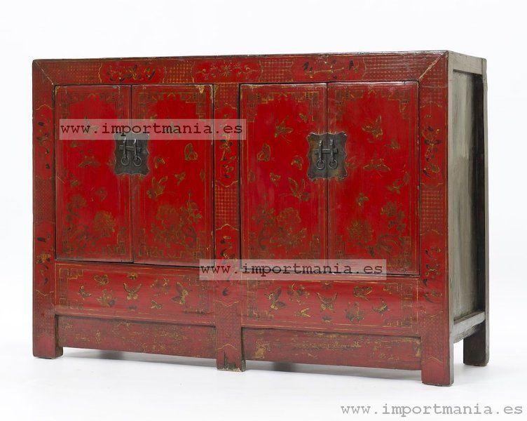 Marvelous Aparador Oriental Rojo Decorado Guadalajara Muebles Chinos   Muebles  Orientales   Decoración Oriental China