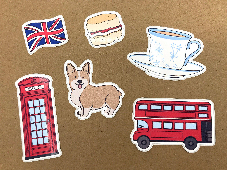 London Notebook Journal StickersSelf AdhesiveLaser Cut Stickers