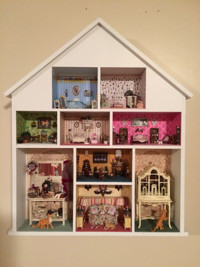 Miniature Dollhouse Wall Hanging 1 48 Scale 1 24 Scale And 1 12 Scale Rooms Dollhouse Wall Hanging Dollhouse Miniatures Doll House