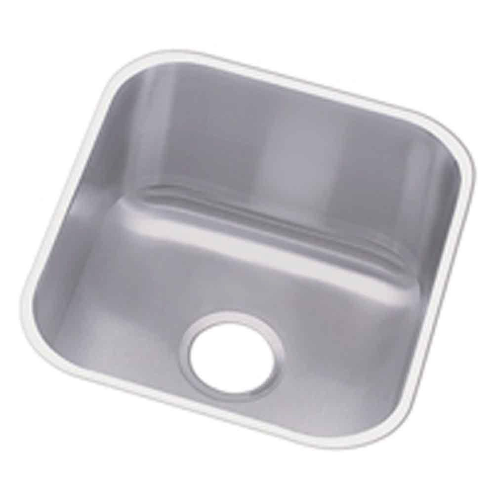 Undermount Stainless Steel (Silver) 17 in. 0-Hole Single Bowl Hospitality Sink