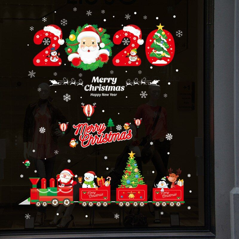 Pin By Betsabé Davila On Navidad Christmas Wall Stickers Christmas Window Decorations Wall Decor Stickers