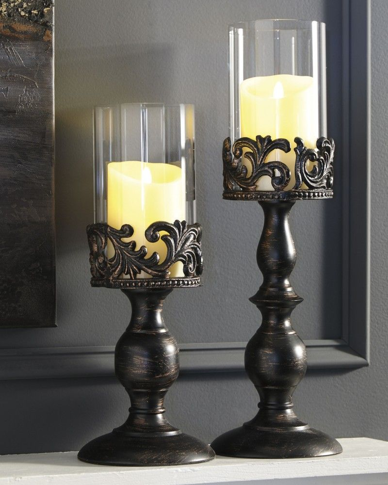 American Signature Furniture Athens Ga: Candle Holder Set (2/CN) In