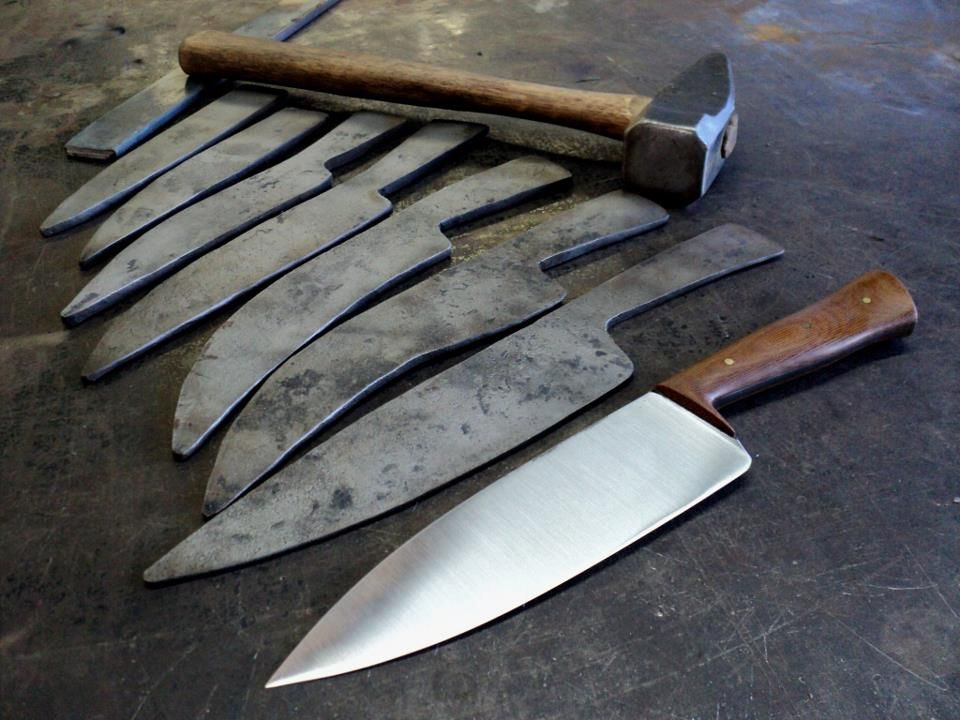 Progression In Forging A Kitchen Knife By Nick Rossi Kitchen Knives Kitchen Knife Design Knife
