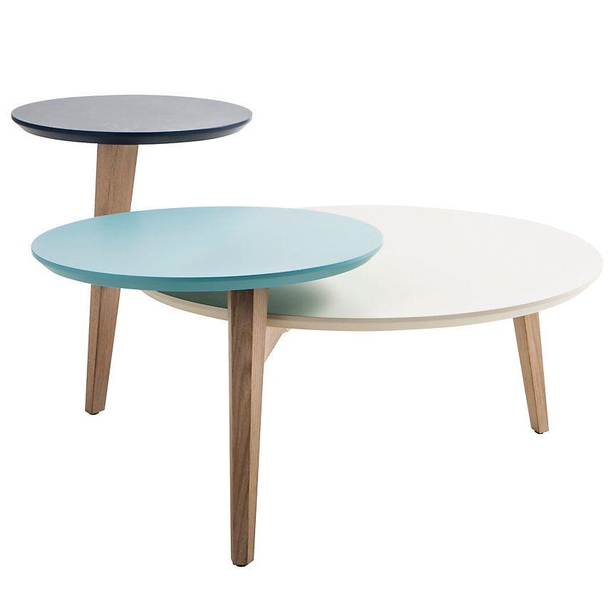 Table basse 3 plateaux odense tendance ethnique chic table basse table et plateau - Table basse camif ...