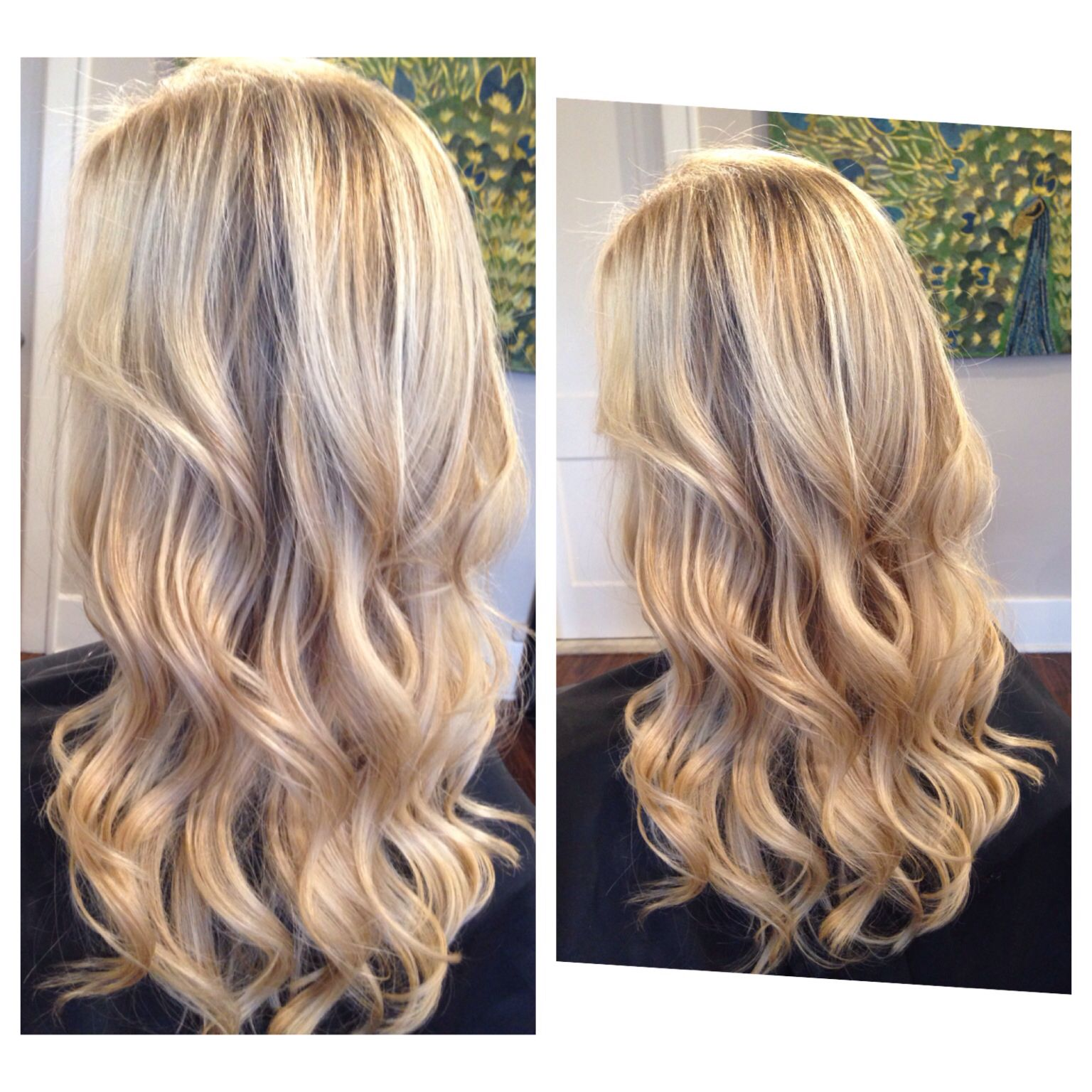 Blonde dimension and blonding magic waterfall cascading waves and