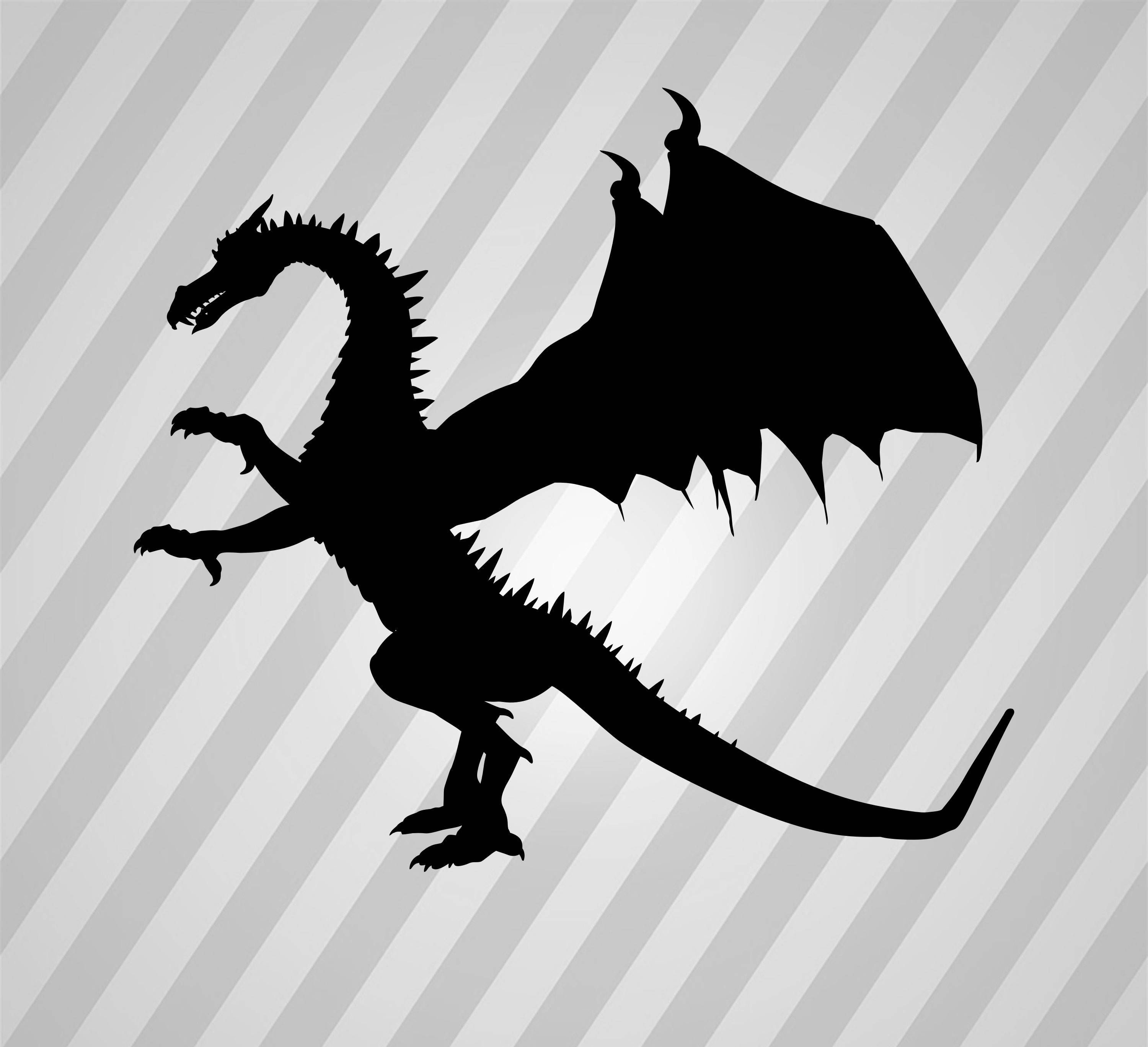 Pin by Tracie Spears on Silhouettes Dragon silhouette