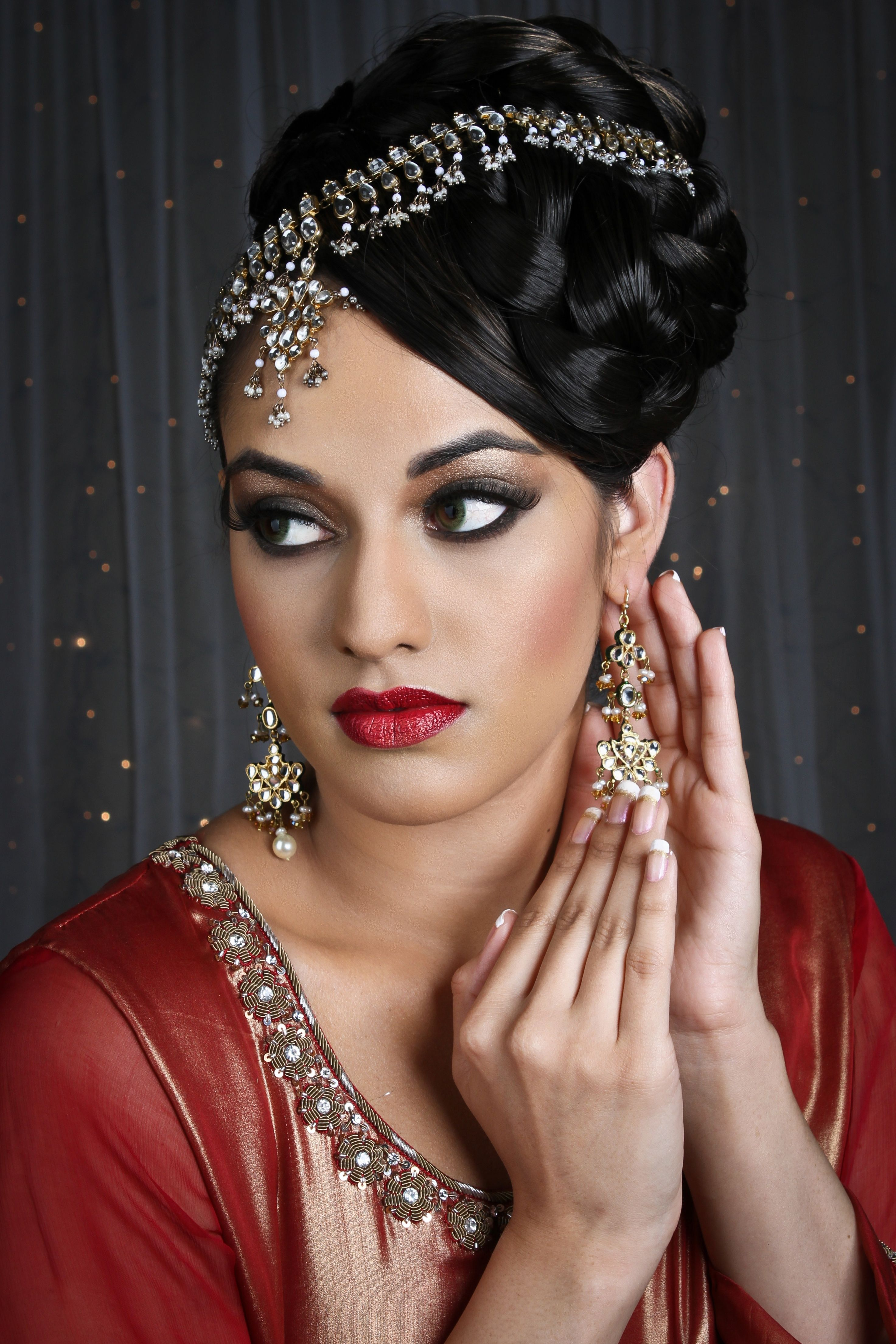 raveen with contemporary 2013 hairstyle and makeup for the modern
