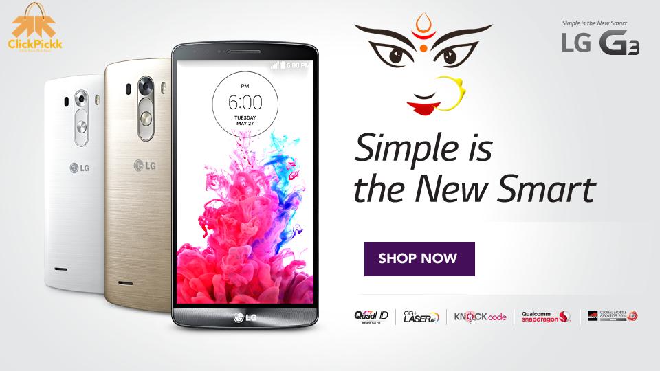Sabse Badi Deal in Lg smartphone ClickPickk - http://bit.ly/1W1CNNs  #ClickPickk #ClickKaroPickkaro #festive #season #lg #smartphone #LGG3 #navratri #durgapuja