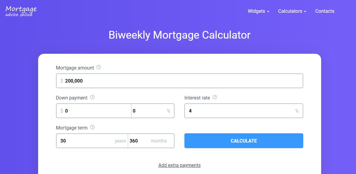 Biweekly Mortgage Calculator Biweekly Mortgage Calculator Biweekly Mortgage Mortgage Amortization Calculator