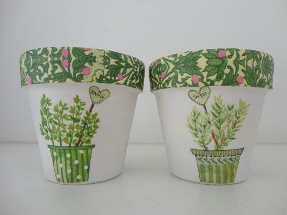 macetas decoradas - macetas - casa - 12264 | recipientes y