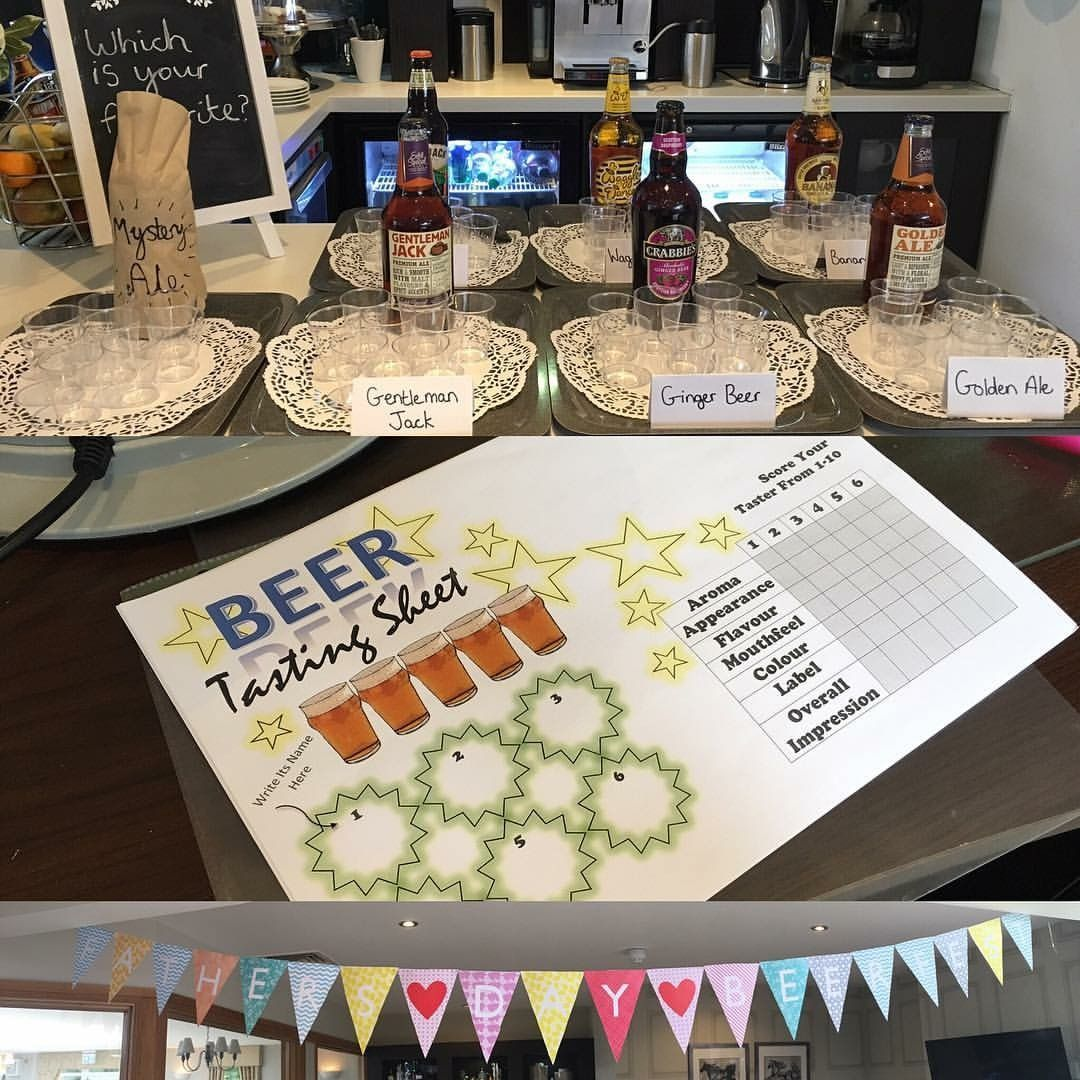 For Father's Day I organised a beer tasting event at work. I made a beer tasting... - #event #father #organised #tasting - #BeerTassting