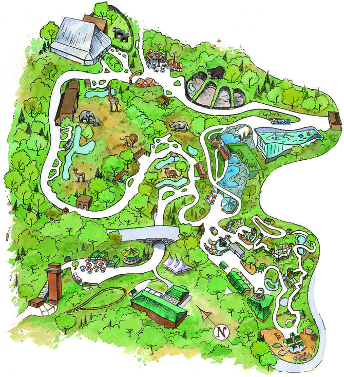 Pittsburgh Zoo Map map   Pittsburgh Zoo | Road trips | Pittsburgh zoo, Pittsburgh, Places Pittsburgh Zoo Map