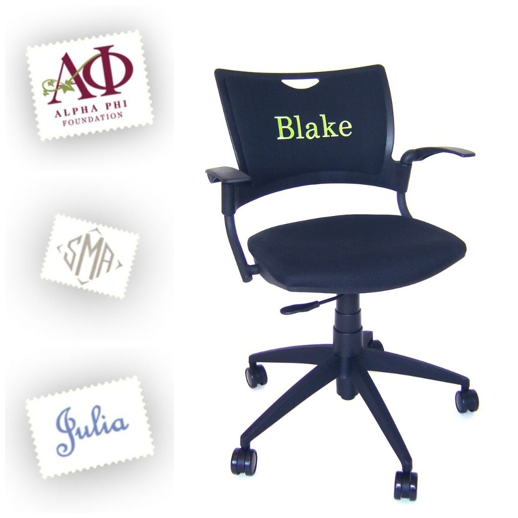 Monogrammed Chairs Office Chairs With Custom Monograms Unique