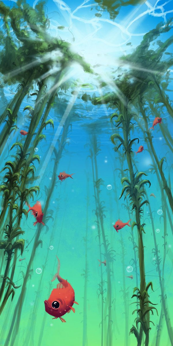 Underwater Life By E Sketches Underwater Painting Ocean Art Water Art