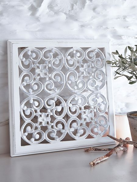 These Very Intricatly Carved White Wall Panels Can Be Used