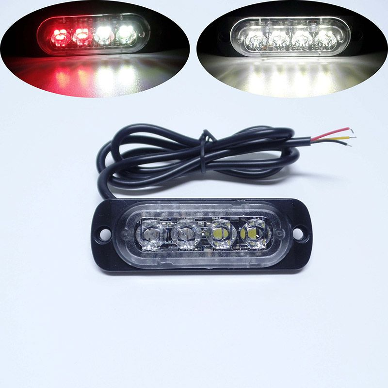 Strobe Lights For Cars Custom Super Bright White Yellow Red Blue Amber 4 Led Car Truck Van Side
