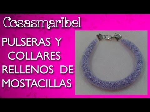 ▶ DIY:PULSERAS Y COLLARES RELLENOS DE MOSTACILLAS. - YouTube