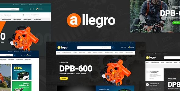 Allegro - WooCommerce WordPress Theme for Hand Tool & Equipment Stores