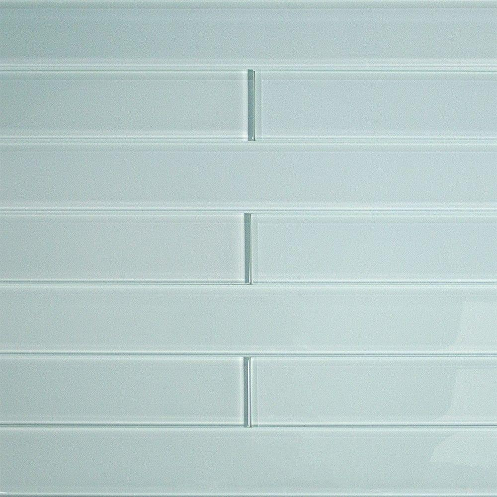 Splashback Tile Contempo Vista Seafoam Green 2 In X 16 In X 8 Mm Polished Subway Glass Wall Tile Polishe Ivy Hill Tile Wall Tiles