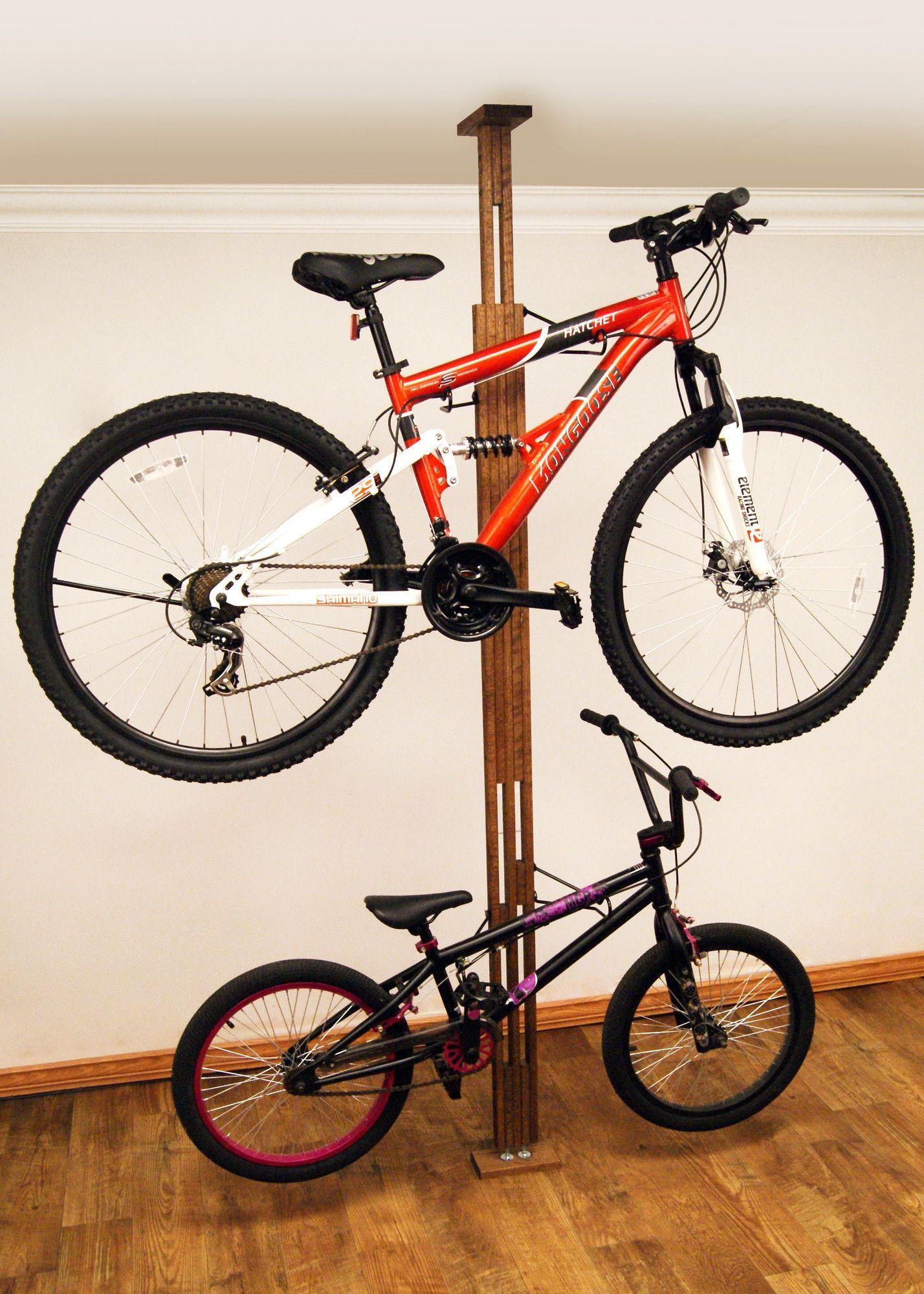 Signature Series 2 Bike Oakrak Floor To Ceiling Mounted Bike Rack Products Ceiling Storage Rack Bike Storage Rack Storage Rack
