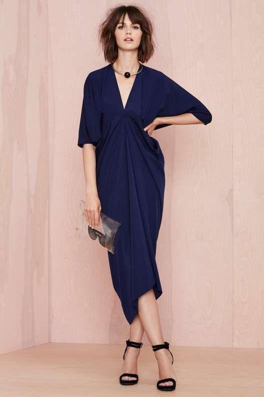 Metamorphose Dress - Navy - Midi + Maxi | fashion: minimalism ...