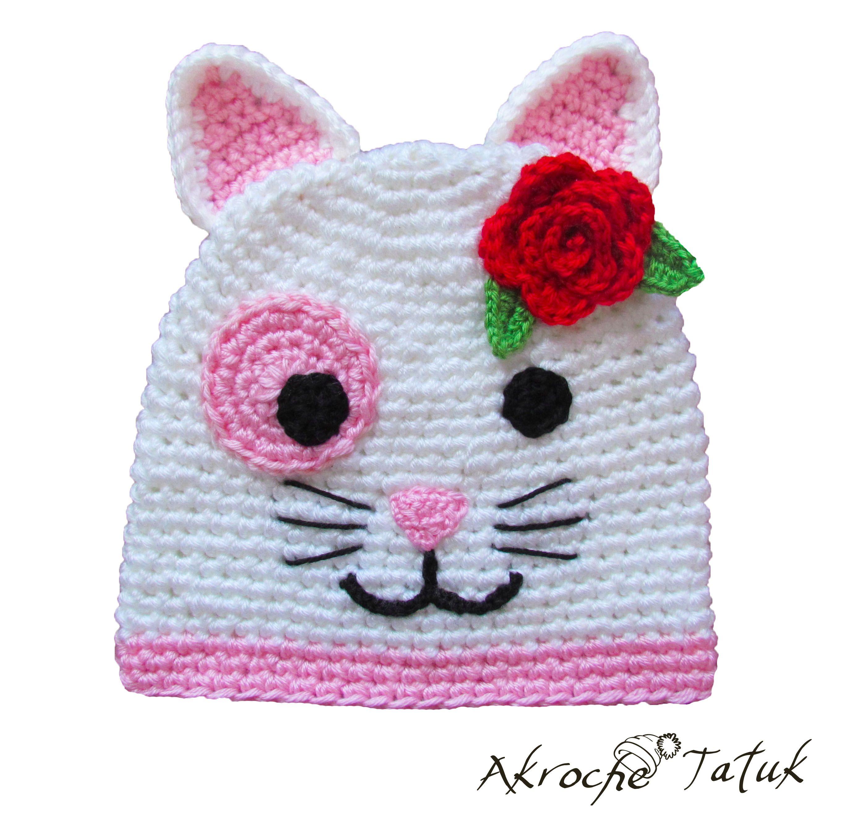 Tuque chat / Cat crochet hat | Bricolage, couture et tricot | Pinterest