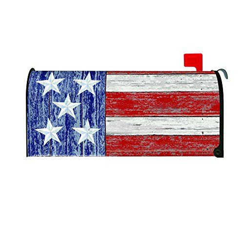 Mailbox Covers Toland Home Garden Rustic Patriotic Decorative Mailbox Cover Check Out This Great Product This I Mailbox Covers Mailbox Design Diy Mailbox