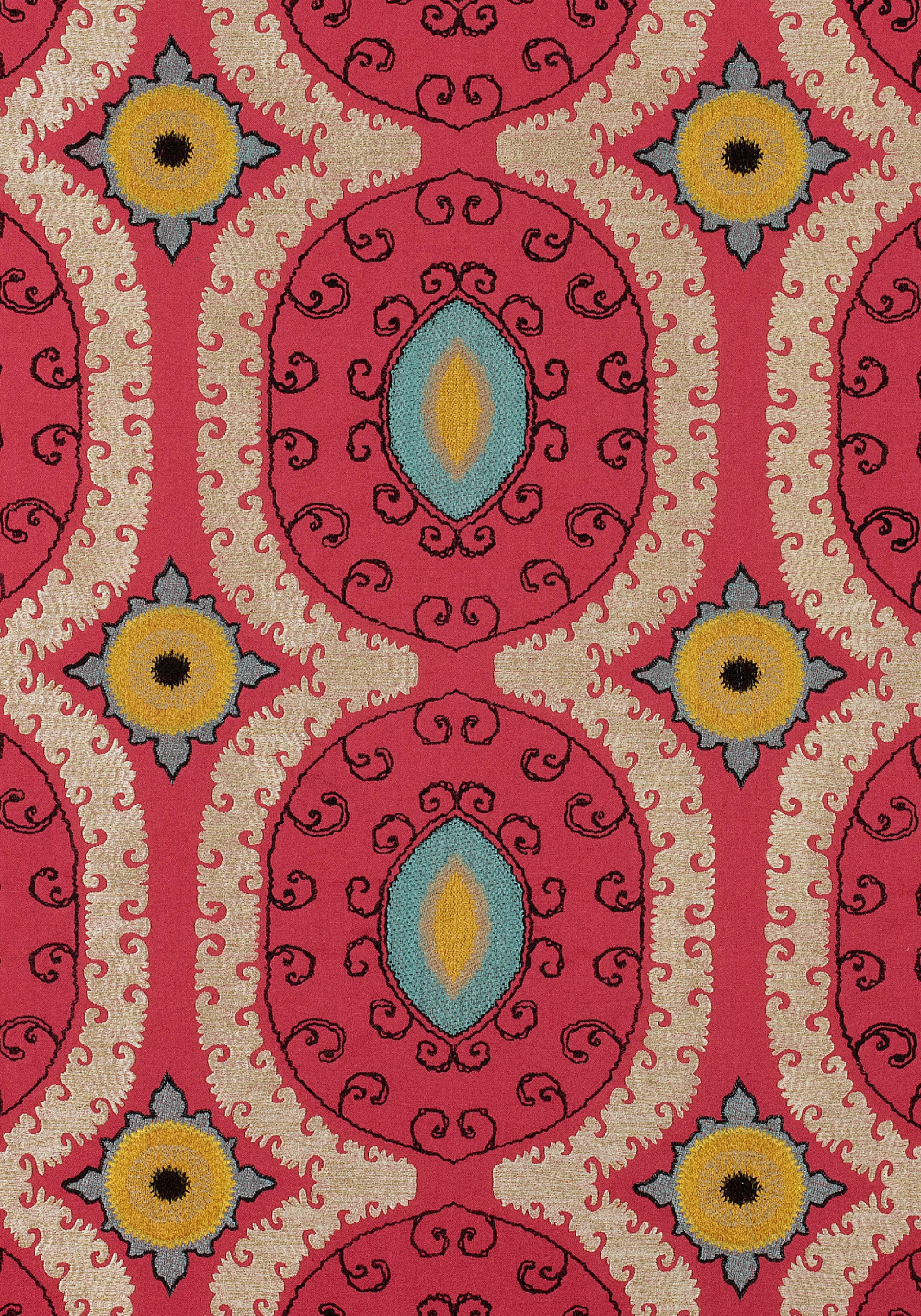 Baxter Bench in Jardin Maze Velvet woven fabric in Aqua