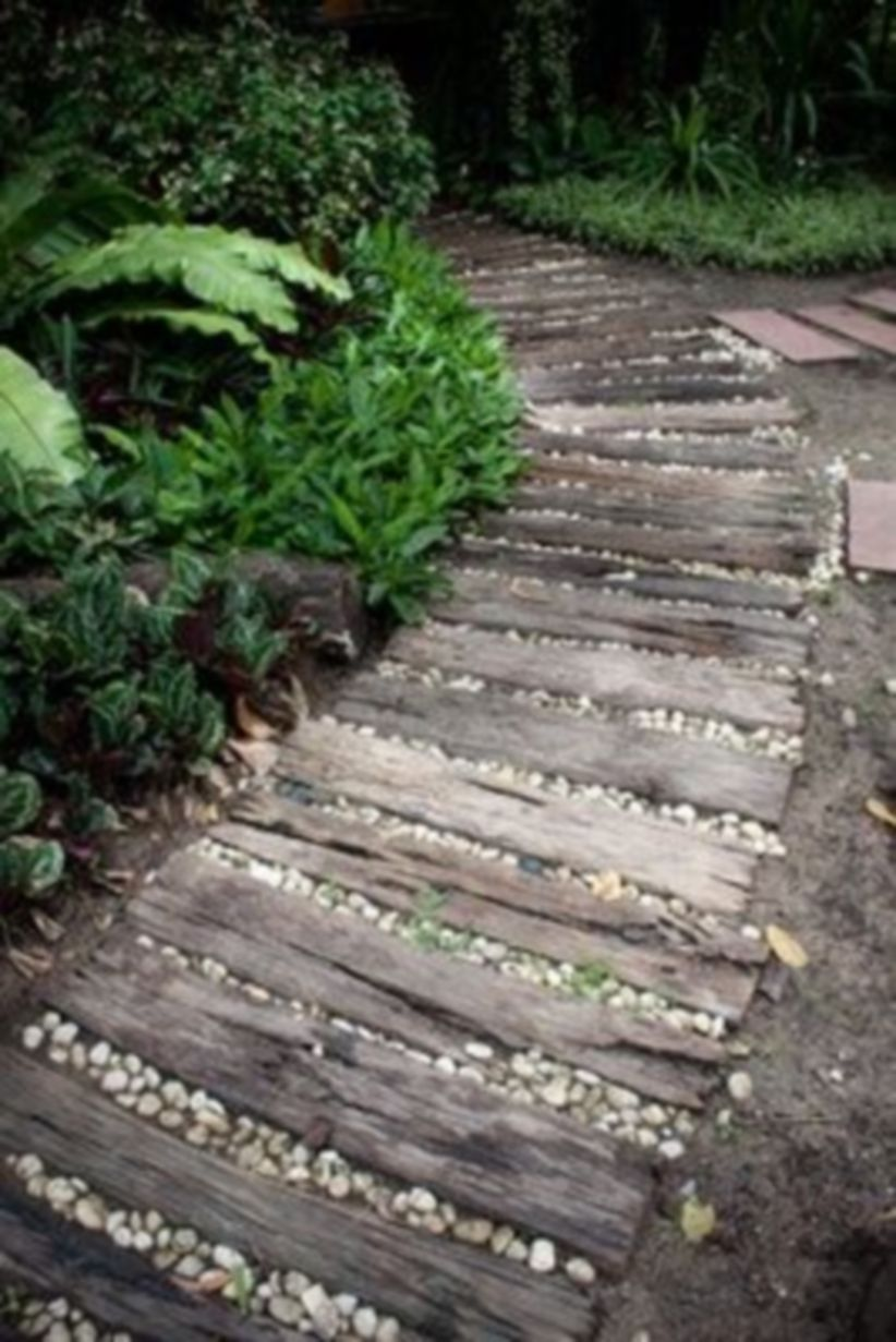 creative wood landscaping ideas