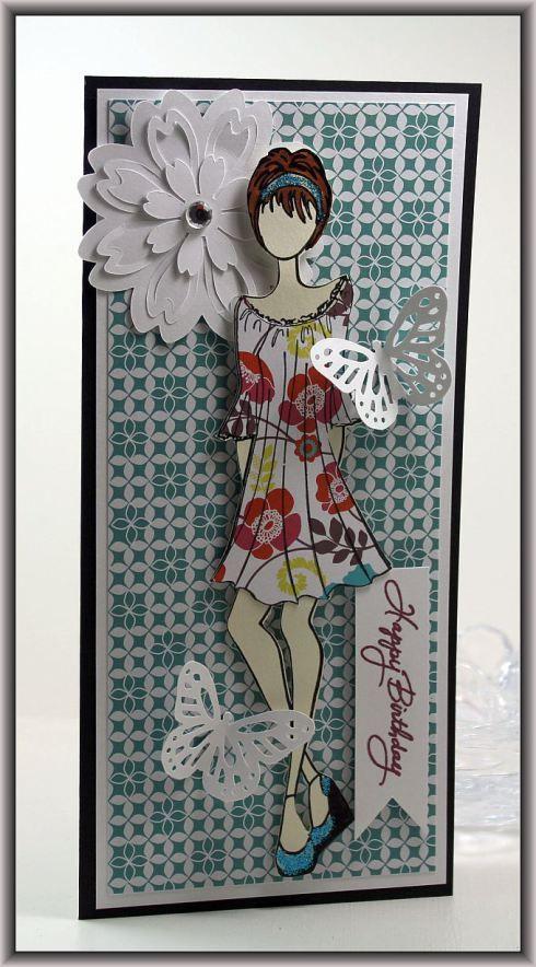 Prima Doll Card Prima - Peasant Dress