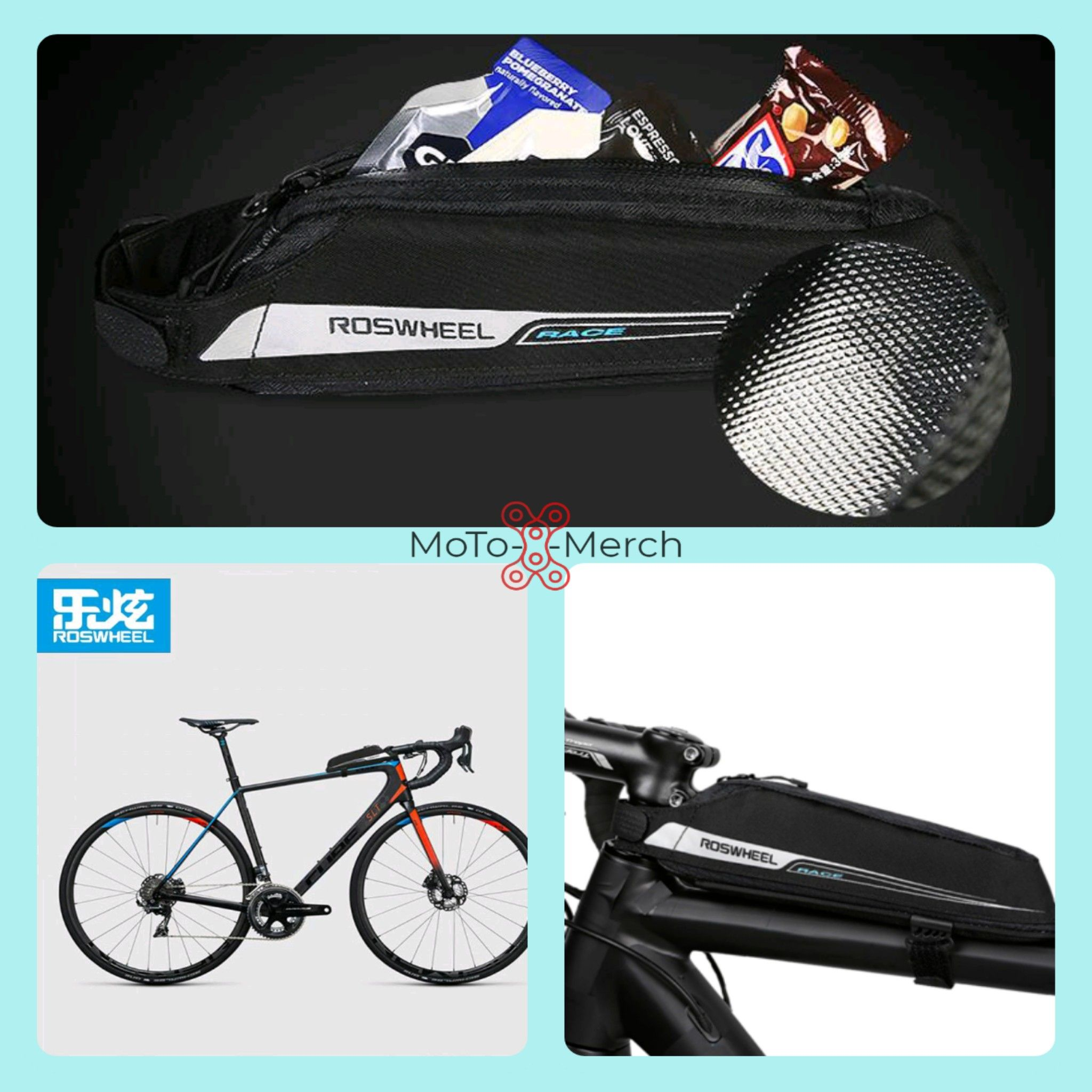 0.4L Waterproof Cycling Bag Bike Bicycle Front Frame Pannier Top Tube Bag Pouch