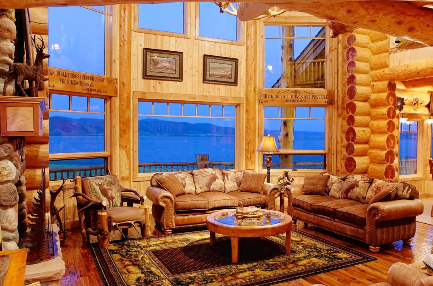 Home Page Log home interiors, Log home living, Log cabin