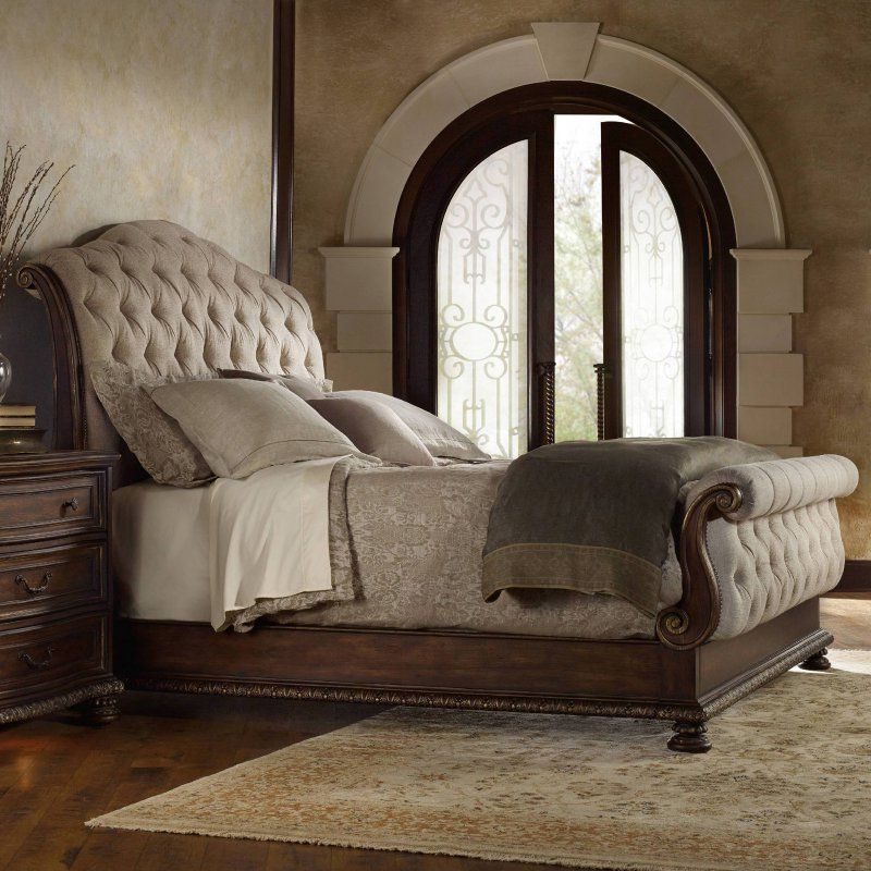 Hooker Furniture Adagio Tufted Upholstered Sleigh Bed - 5091-90566