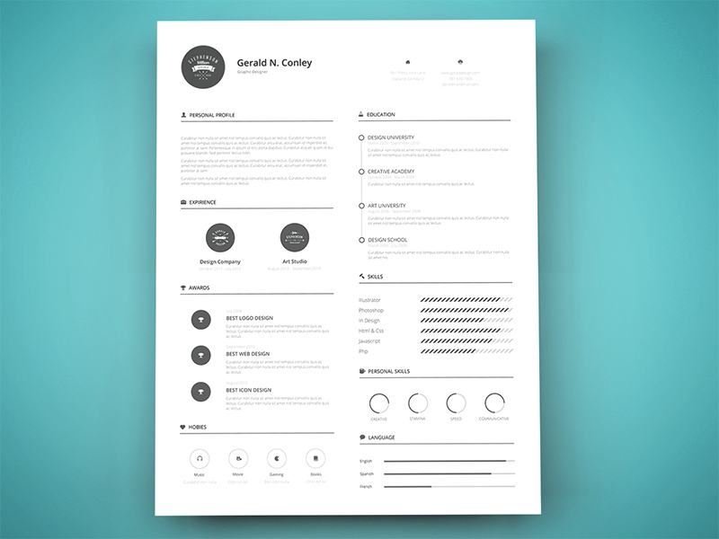 Freebie - Print Ready Resume Template | Template, Printing and ...