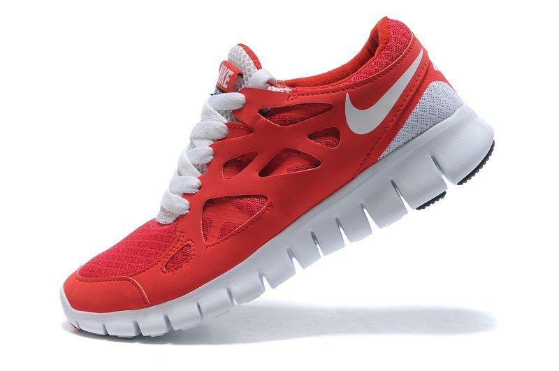 the best attitude 2e104 b0faa ... Dark Red  Nike Free Run+2 Womens Running Shoes Red White ...