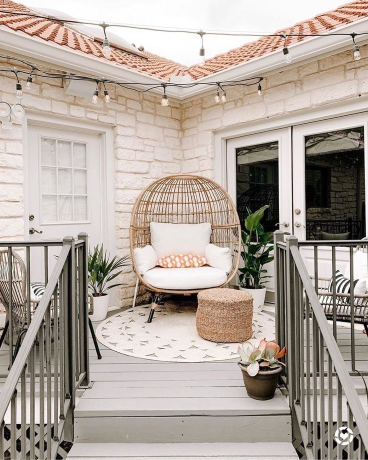 Front Porch Decorating Ideas With The Perfect Adirondack Chairs Our House Now A Home: Modern Outdoor Patio, Outdoor Patio Designs, Patio Decor