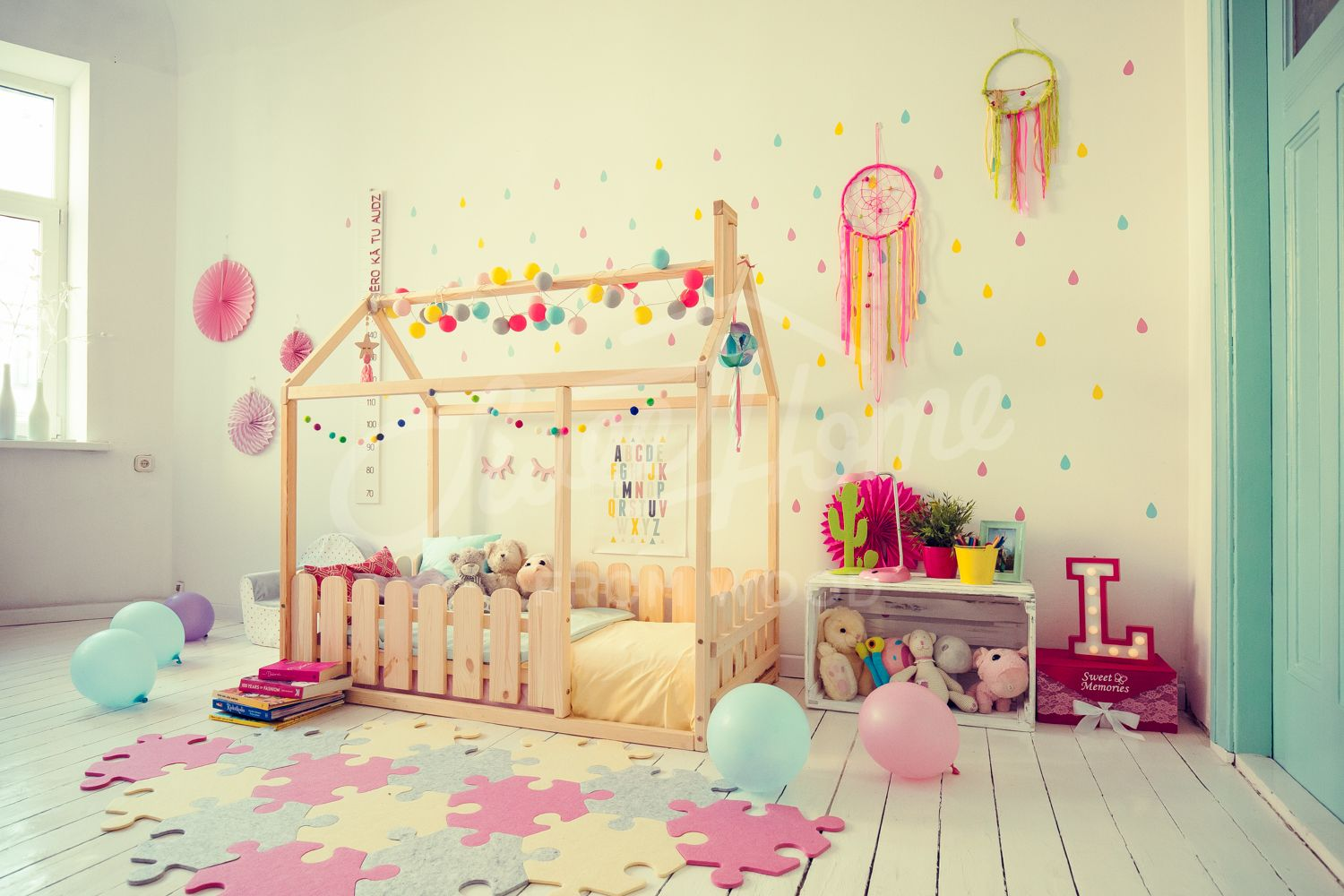 Toddler bed, house bed, tent bed, wooden house, wood house, wood ...