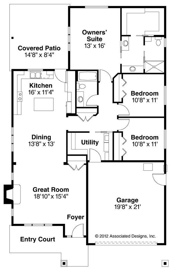 Pine Creek 30-885 new house plan from Associated Designs Beautiful