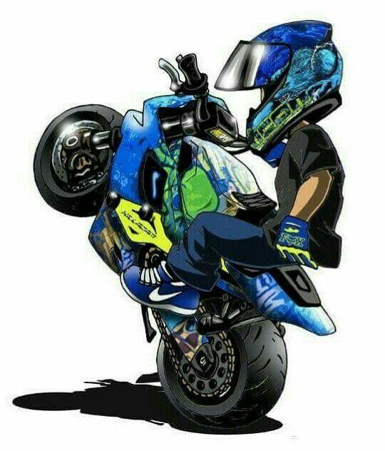 Adesivo De Bailarina ~ Pin do(a) Fernando Barcelos em Caricaturas Pinterest Motos esportivas, Motos e Desenhos de motos