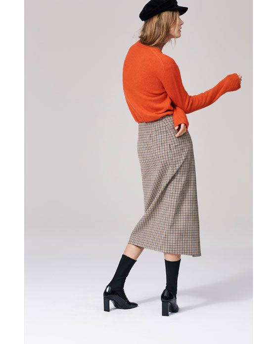 f2b122590c Image 1 of CHECKED WRAP-STYLE MIDI SKIRT from Zara   fashion vision ...